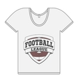 Single white T-Shirt with Football Label vector image vector image