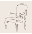 Sketched armchair vector image vector image