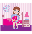 sleepy girl to go to bed vector image vector image
