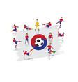soccer player team with south korea flag vector image vector image
