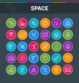 space exploration colorful icons vector image