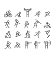 Sport line icons Modern style vector image vector image