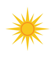 Sun icon Light yellow white background vector image vector image