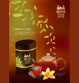 tea advertising flyer poster or banner template vector image vector image