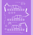 thin line style car assembly line vector image