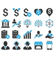 Trade business and bank service icon set vector image vector image