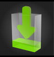 Transparent Download Box vector image