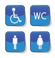 wc icon blue vector image vector image