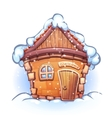 winter cartoon home vector image