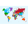 World map colorful countries atlas eps10 file