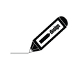 design pencil black vector image