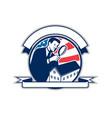 american home inspector usa flag circle icon vector image