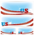 Background banners of USA flags brochure vector image vector image