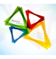 Background with colorful triangles vector image vector image