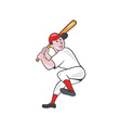 Baseball Player Batting Leg Up Cartoon vector image vector image