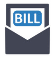 bill payment invoice icon vector image vector image