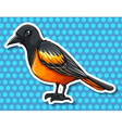 Bird with black and yellow feather vector image vector image