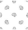 brain power pattern seamless vector image vector image