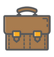 Briefcase colorful line icon business portfolio