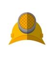 cartoon helmet mining light protection vector image vector image