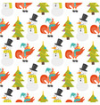 cartoon rooster seamless pattern vector image vector image