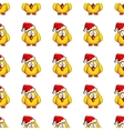 Chicken Santa On White vector image vector image