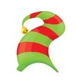 christmas elf hat vector image vector image