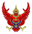 coat of arms of Thailand vector image