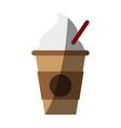 coffee drink cartoon vector image vector image