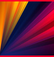 colorful geometric background with rays vector image vector image