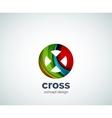 cross logo template vector image