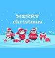 cute cartoon penguins christmas baby penguin vector image vector image