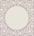 cute circle frame with stylish flowers and leaves vector image vector image