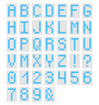 decorative monospaced font from plastic vector image vector image