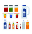 different liquid in bottles vector image vector image