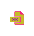 DOC Icon vector image vector image