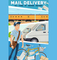 express delivery mail and parcel service vector image vector image