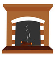 extinct fire on white background vector image vector image