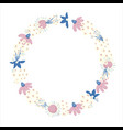 floral wreath nature frame with flowers vector image vector image
