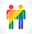 Gay marriage homosexual color icon vector image