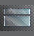 glass transparent banners plates vector image