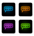 glowing neon like and heart icon isolated on vector image vector image