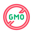 gmo crossed icon outline vector image
