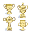 Gold trophy collection vector image