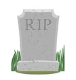 Grave Old gravestone with cracks tomb on white vector image vector image