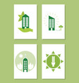 green energy and buildings vector image vector image