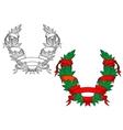 Heraldic coat of arms vector image vector image