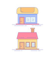 home market line icon or logo vector image vector image