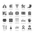 hospital medical flat glyph icons human organs vector image vector image