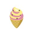 ice cream in cone vector image vector image